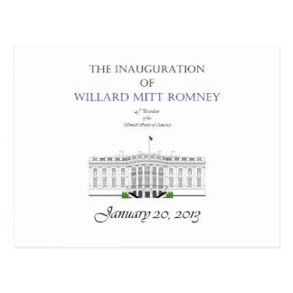 Inauguration of Mitt Romney 2013 Postcard