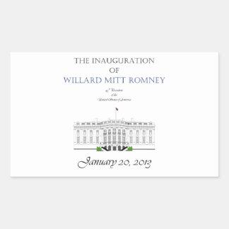 Inauguration of Mitt Romney 2013 Rectangular Sticker