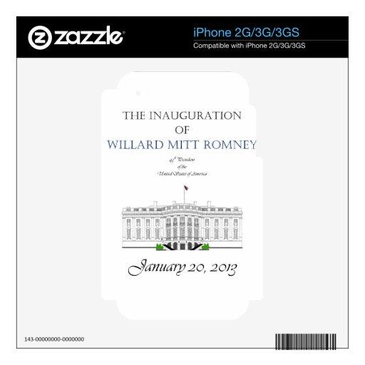 Inauguration of Mitt Romney 2013 iPhone 2G Decal