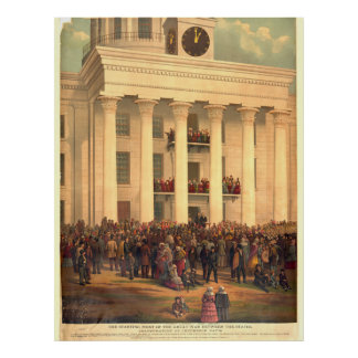 Inauguration of President Jefferson Davis of CSA Poster