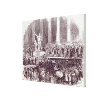 Inauguration of President Polk: The Oath Canvas Print