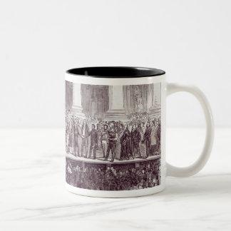 Inauguration of President Polk: The Oath Two-Tone Coffee Mug