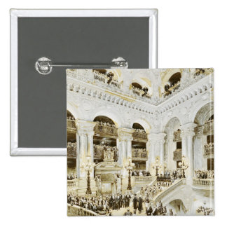 Inauguration of the Paris Opera House 2 Inch Square Button