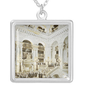 Inauguration of the Paris Opera House Square Pendant Necklace