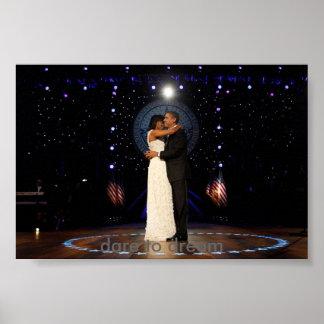 Inauguration President Barack Obama Dance w/ Miche Poster