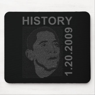 inauguration speech with embeded image mouse pad