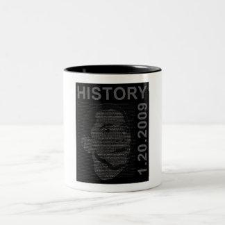 inauguration speech with embeded image Two-Tone coffee mug