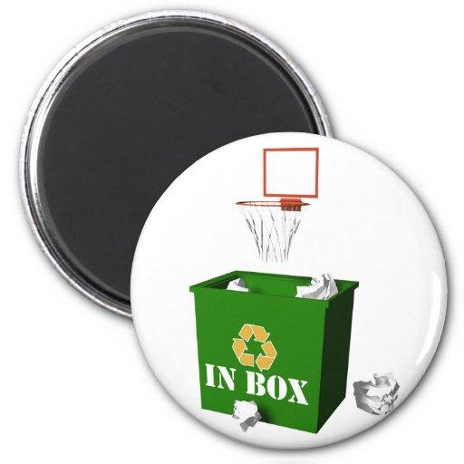 Inbox-Basketball 2 Inch Round Magnet