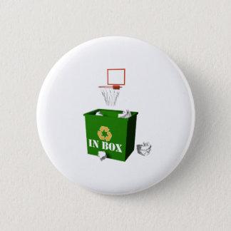 Inbox-Basketball Pinback Button