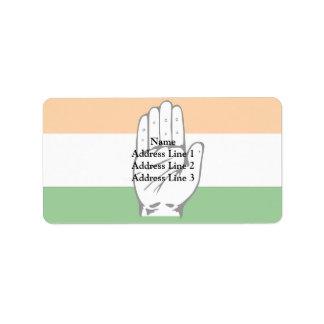 Inc, India flag Label
