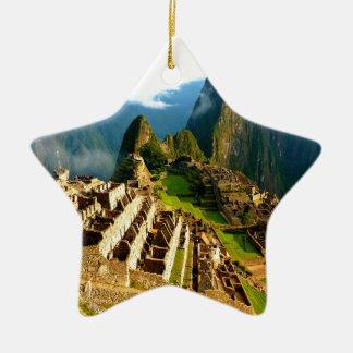 inca de Perú del picchu del machu Adorno De Cerámica En Forma De Estrella