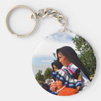 Inca family keychain