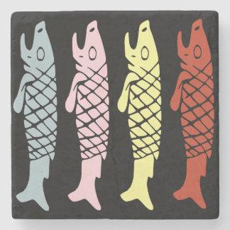 Inca Fish Stone Coaster