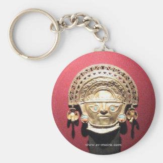Inca gold ceremonial knife (Tumi),  Lima, Peru Basic Round Button Keychain