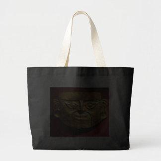 Inca gold mask Lima Peru Canvas Bags