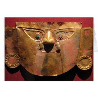 Inca gold mask, Lima, Peru Card