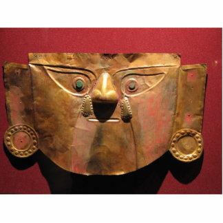 Inca gold mask, Lima, Peru Cutout