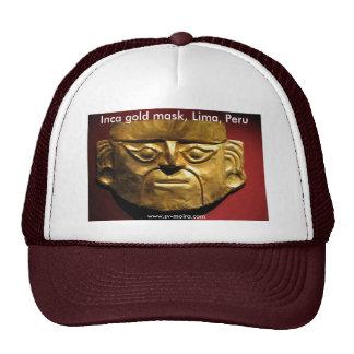 Inca gold mask, Lima, Peru Hats
