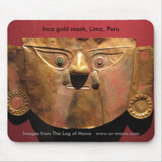 Inca gold mask, Lima, Peru Mouse Pad