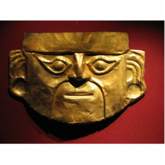 Inca gold mask, Lima, Peru Statuette