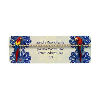 Inca Macaws - Blue Sun Return Address Label