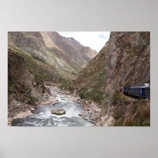 Inca rail train to Machu Picchu poster