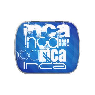 Inca; Rayas azules reales Frascos De Dulces