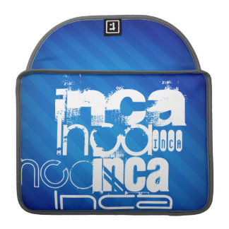 Inca; Royal Blue Stripes MacBook Pro Sleeves