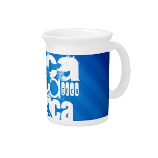 Inca; Royal Blue Stripes Beverage Pitcher