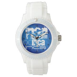 Inca; Royal Blue Stripes Wrist Watch