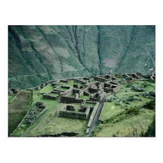 Inca ruins, Pisac, Peru Postcard