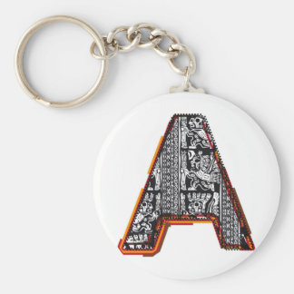 Inca`s font, Letter A Keychain