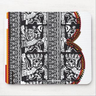 Inca`s font, Letter B Mouse Pad