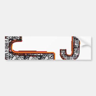 Inca`s font, Letter J Bumper Sticker