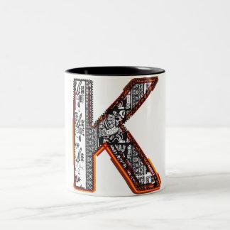 Inca`s font, Letter K Mug