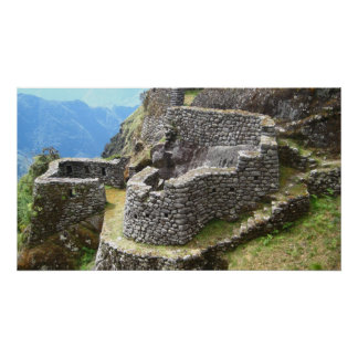 Inca trail Ruins Poster