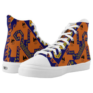 Inca Tribal High Top Gym Shoes - Basketball Shoes