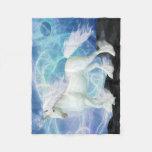 Incandescence Innocence Unicorn Fleece Throw Fleece Blanket