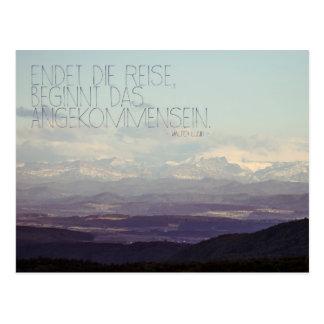 Incandescencia de alpes postales