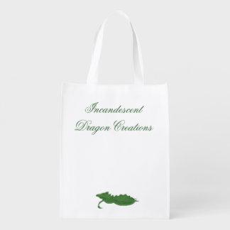 Incandescent Dragon Creations Green dragon bag Reusable Grocery Bag