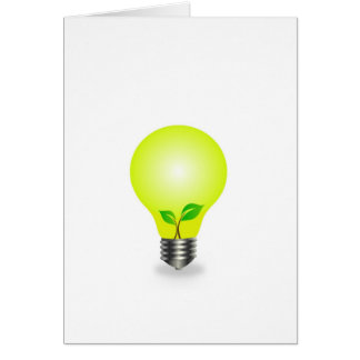 Incandescent lamp with baby seedling card