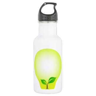 Incandescent lamp with baby seedling stainless steel water bottle