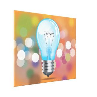 Incandescent light bulb canvas print