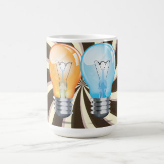 Incandescent light bulb coffee mug
