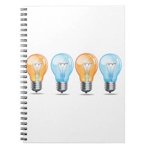 Incandescent light bulb Ideas Book Spiral Notebook