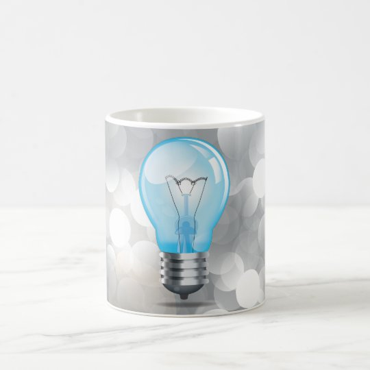 Incandescent light bulb magic mug