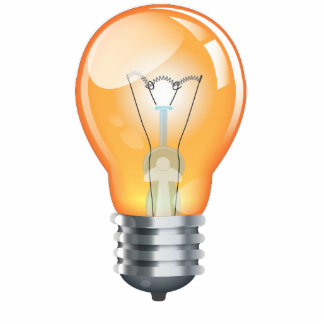 Incandescent light bulb photo sculpture