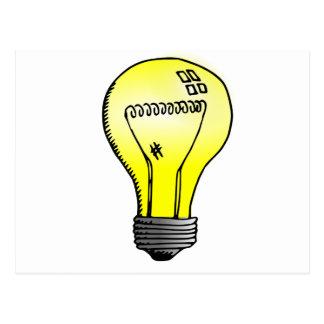 Incandescent Light Bulb Postcard