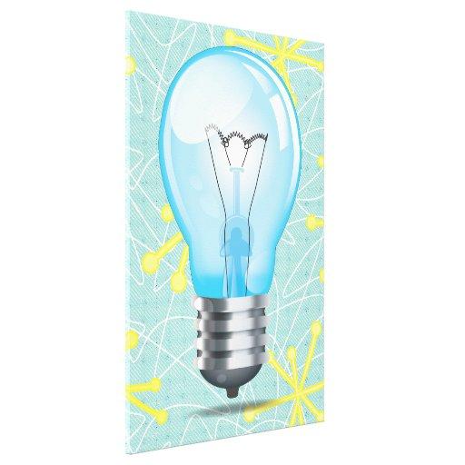 Incandescent light bulb stretched canvas print