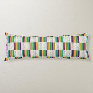 Incandescent Rainbow Plaid (Large) Body Pillow